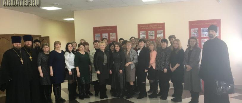 В Дубенском благочинии прошел образовательный семинар с участием  заведующего сектором ОПК Синодального ОРОиК диакона Германа Демидова
