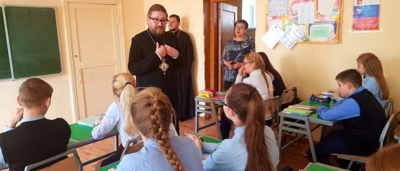 Архипастырь посетил открытый урок ОПК в Ардатовской ООШ