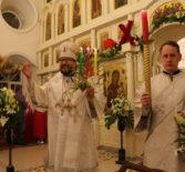 В праздник Светлого Христова Воскресения Архипастырь провел торжественные пасхальные богослужения