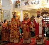 Соборное пасхальное богослужение в Кафедральном соборе святого праведного воина Феодора Ушакова г.Саранска