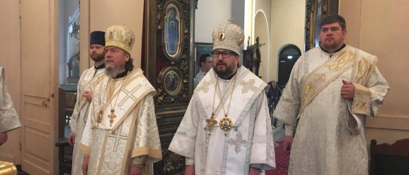 Владыка Вениамин поздравил епископа Нарвского и Причудского Лазаря с Днем тезоименитства