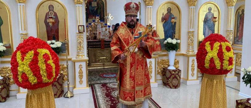 Понедельник Светлой Седмицы, Архипастырь совершил Божественную литургию в центральном храме Дубенского благочиния в честь Николая Чудотворца