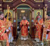 Божественная литургия в Благовещенском приходе п.Комсомольский Чамзинского благочиния