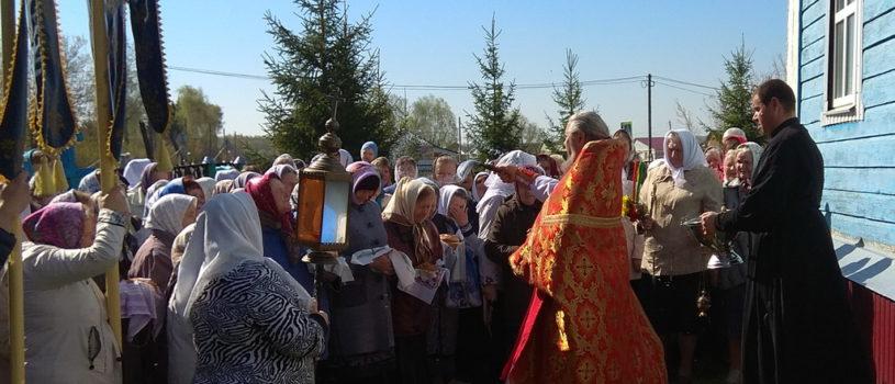 В Субботу Светлой седмицы в Вознесенском приходе с.Атяшево прошла  Божественная литургия с крестным ходом