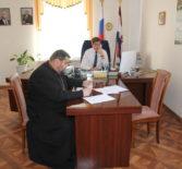 Рабочая встреча благочинного Дубенского района с Главой Дубёнского муниципального района в рамках Общественного Совета Ардатовской епархии