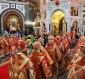 Архипастырь сослужил Святейшему Патриарху Московскому и всея Руси Кириллу в кафедральном соборном Храме Христа Спасителя