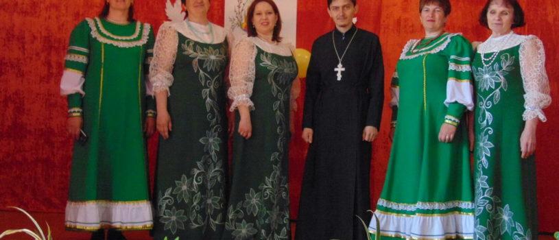 Жители села Киржеманы Большеигнатовского района торжественно отмечают Пасху Христову