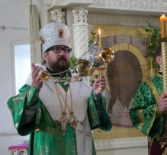 Всенощное бдение в Никольском кафедральном соборе г.Ардатова накануне Пятидесятницы