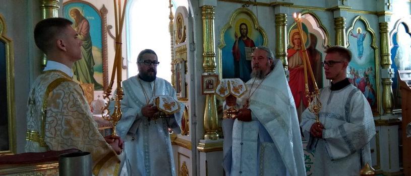Вознесение Господне, Архипастырь совершил Божественную литургию в Вознесенском приходе с.Атяшево