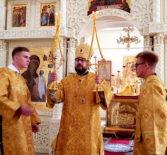 Суббота 7-й седмицы по Пятидесятнице, Архипастырь совершил Божественную литургию в Никольском кафедральном соборе г.Ардатова