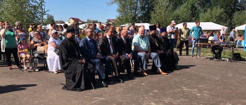 Архипастырь посетил праздничное мероприятие в Больших Березниках, посвященное Дню района