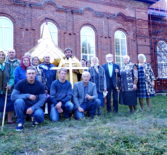 В с.Кечушево Ардатовского благочиния идут работы по монтажу новой кровли здания церкви