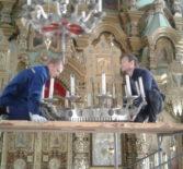 В Троицком храме с. Андреевка Ардатовского благочиния приобрели и установили новое паникадило