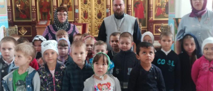 Экскурсия по храму Благовещения Пресвятой Богородицы для воспитанников детского сада «Колокольчик» п.Комсомольский