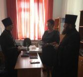 В Дубенской СОШ прошла рабочая встреча руководителей епархиальных отделов с директором школы