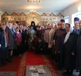 Архипастырь совершил Божественную литургию в Иверском приходе п.Октябрьский Ардатовского района