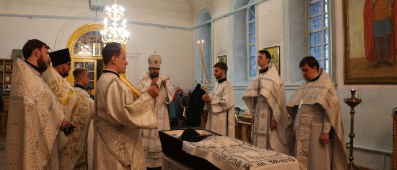 Архипастырь совершил Божественную литургию с чином отпевания в Сергиевском приходе п.Тргенево Ардатовского района