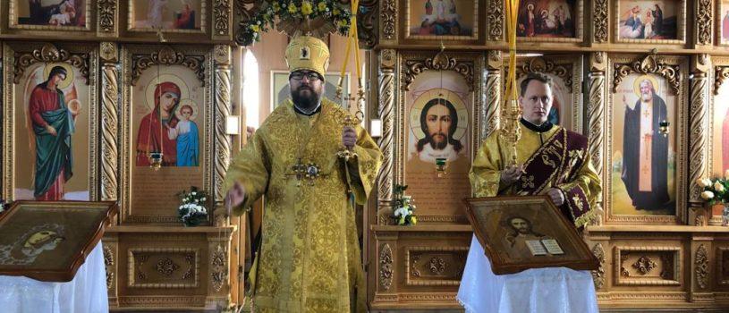 Архипастырь совершил Божественную литургию в Казанском храме с.Пиксяси 1-го церковного округа Ардатовского благочиния