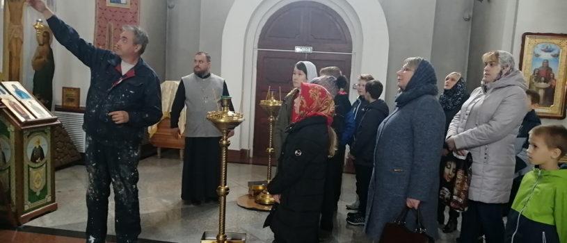 Экскурсия для учеников и их родителей по Благовещенской церкви п.Комсомольский Чамзинского благочиния