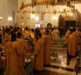 Всенощное бдение в в храме Кирилла и Мефодия, учителей Славянских г.Саранска
