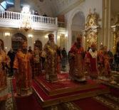 Глава Мордовской митрополии совершил Всенощное бдение в Федоровском кафедральном соборе г.Саранска в сослужении Архипастырей из соседних епархий