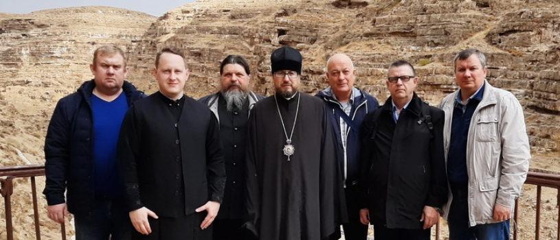 Пятый день паломничества на Святой Земле продолжился в Лавре преп. Саввы Освященного