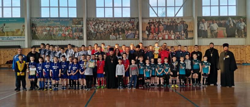 В Атяшево прошел турнир по мини-футболу на кубок Ардатовской епархии, посвященный памяти святого апостола Андрея Первозванного