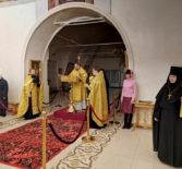 Архипастырь совершил Вечернее богослужение с чтением акафиста в кафедральном соборе г.Ардатова