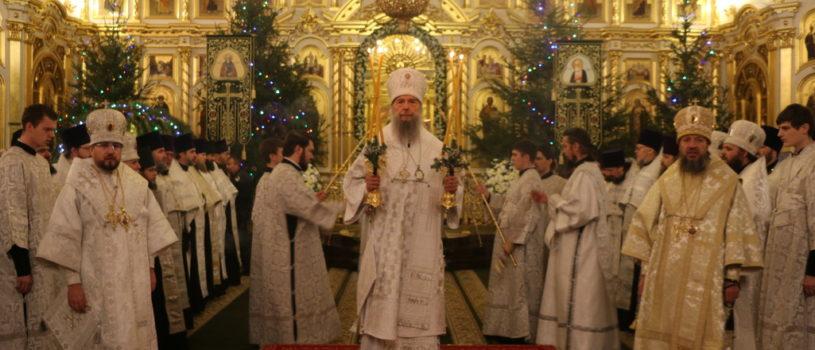 Великая Вечерня в Кафедральном соборе в честь святого праведного воина Феодора Ушакова г.Саранска