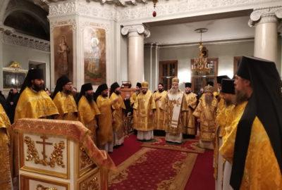 Божественная литургия в Троицком соборе Свято-Данилова монастыря в рамках XXVIII Международных Рождественских образовательных чтений