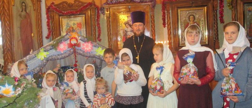 Рождественская ёлка в Лобаскинском приходе 1-го церковного округа Атяшевского благочиния