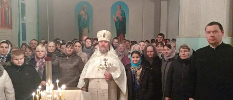 Ночное богослужение в Рождество Христово в Вознесенском приходе с.Атяшево