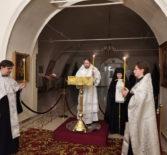 Вечерня с чтением акафиста святителю Луке, архиепископу Крымскому в Никольском кафедральном соборе г.Ардатова