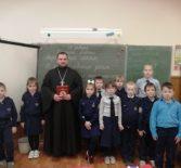 Духовник кадетов Комсомольской СОШ №1 проводит каждую среду открытые уроки ОПК