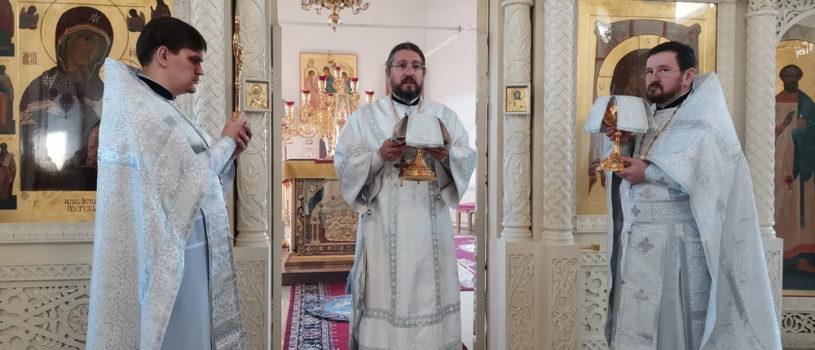 Вселенская родительская (мясопустная) суббота, Божественная литургия в Никольском кафедральном соборе г.Ардатова