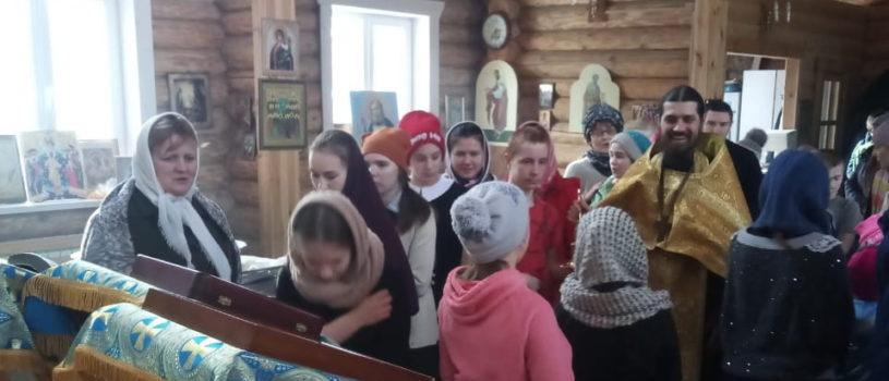 Воспитанники Шейн-Майданской школы-интернат посетили храм иконы Божией Матери «Отрада и Утешение» с.Шейн-Майдан Атяшевского благочиния