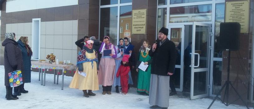 На центральной площади села Баево перед Центром национальной культуры прошли масленичные народные гуляния