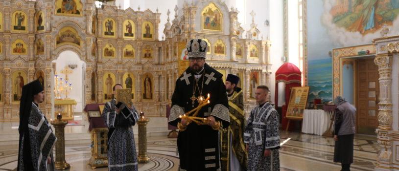 Великий Вторник Страстной Седмицы в Андреевском храме п.Атяшево