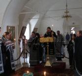 Архипастырь совершил Утреню с чтением 12-ти Страстных Евангелий в Никольском кафедральном соборе г.Ардатова