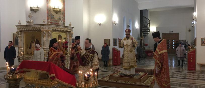 Вторник Светлой Седмицы в Андреевском храме п.Атяшево