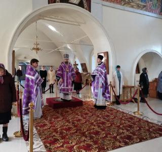 Неделя 5-я Великого Поста в Никольском кафедральном соборе
