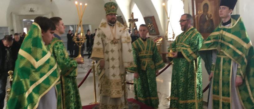 Вход Господень в Иерусалим (Вербное воскресение) в Никольском кафедральном соборе г.Ардатова