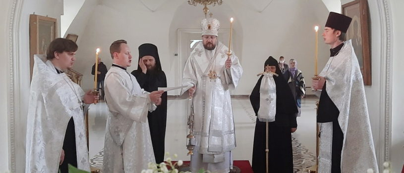 Всенощное бдение накануне Вознесения Господня в Никольском кафедральном соборе г.Ардатова