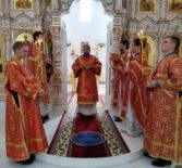 Субботняя Божественная литургия в Андреевском храме п.Атяшево