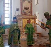Божественная литургия в храме святого апостола Андрея Первозванного п.Атяшево