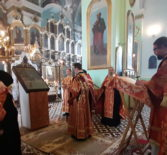 Всенощное бдение на Казанском архиерейском подворье с.Маколово Чамзинского района