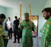 Первая архиерейская служба в храме-часовни в честь Живоначальной Троицы с.Каменка Атяшевского района