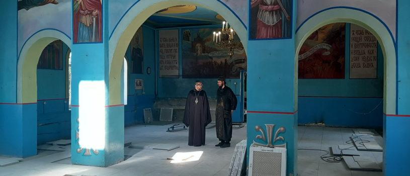 Архипастырь совершил рабочий визит на Никольское архиерейское подворье в п.Атяшево