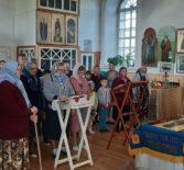 Благословение учащихся Казанского прихода с.Киржеманы первого Атяшевского церковного округа