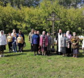 На новом городском кладбище г.Ардатова состоялось освящение поминального Креста